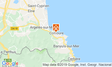 Mappa Collioure Appartamento 118439