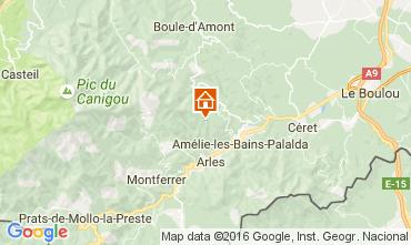 Mappa Amélie-Les-Bains Monolocale 92940