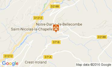 Mappa Notre Dame de Bellecombe Appartamento 2023