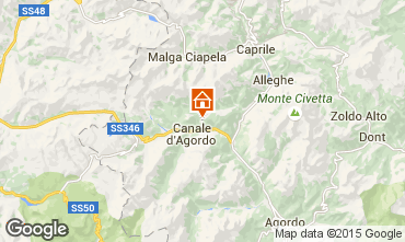 Mappa Falcade Appartamento 81318