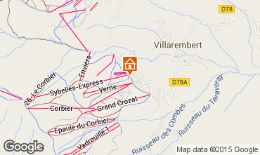 Mappa Le Corbier Appartamento 49618