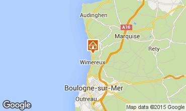 Mappa Wimereux Appartamento 52935