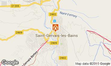 Mappa Saint Gervais Mont-Blanc Chalet 36087