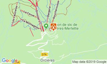Mappa Orcières Merlette Appartamento 118170
