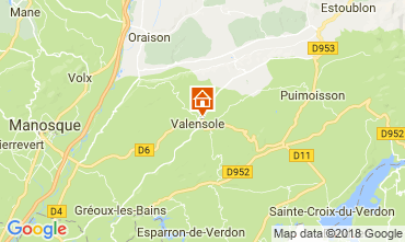 Mappa Valensole Villa  65599