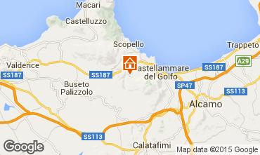 Mappa Castellammare del Golfo Villa  77449