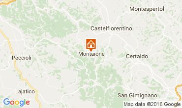 Mappa Gambassi Terme Villa  107501