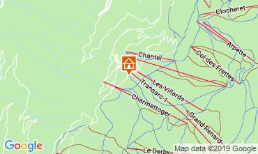 Mappa Les Arcs Appartamento 57958