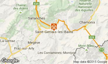Mappa Saint Gervais Mont-Blanc Appartamento 2561