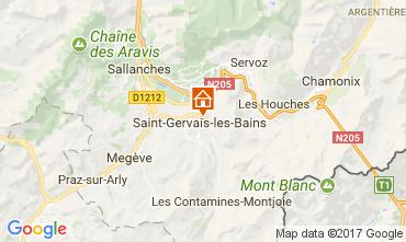 Mappa Saint Gervais Mont-Blanc Appartamento 112570