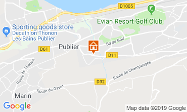 Mappa Evian les Bains Appartamento 106719