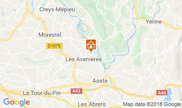 Mappa Les Avenières Veyrins-Thuellin Casa 116733