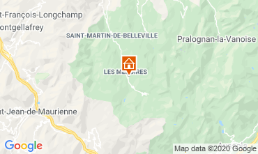 Mappa Les Menuires Appartamento 1629