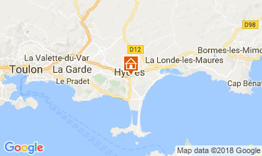 Mappa Hyères Monolocale 109105