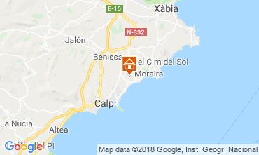 Mappa Moraira Villa  109716