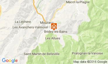 Mappa Brides Les Bains Monolocale 106467