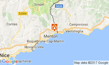 Mappa Menton (Mentone) Monolocale 92434