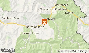 Mappa Barcelonnette Chalet 102916