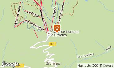 Mappa Orcières Merlette Appartamento 20491