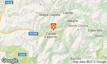 Mappa Falcade Appartamento 55088