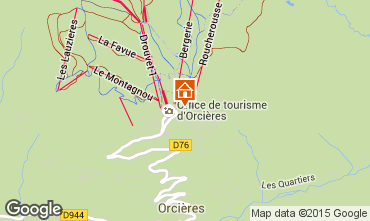 Mappa Orcières Merlette Monolocale 28115