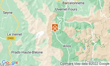 Mappa La Foux d'Allos Monolocale 3204