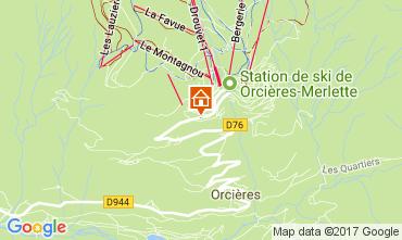 Mappa Orcières Merlette Appartamento 50329