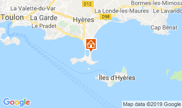 Mappa Hyères Appartamento 118190