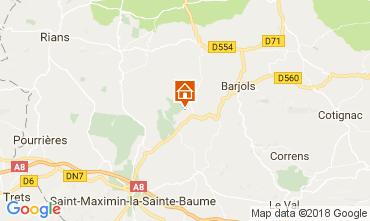 Mappa Saint Maximin la Sainte Baume Villa  112780