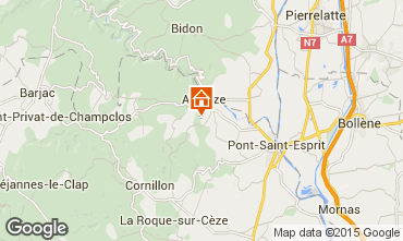 Mappa Saint-Julien-de-Peyrolas Villa  100704
