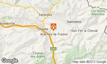 Mappa Les Carroz d'Araches Agriturismo 634