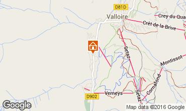 Mappa Valloire Appartamento 101843