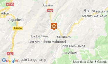 Mappa Léchère les Bains Appartamento 116972