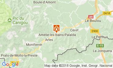Mappa Amélie-Les-Bains Monolocale 79307