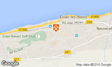 Mappa Evian les Bains Appartamento 102399