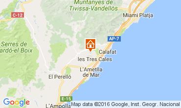 Mappa La Ametlla de Mar Villa  107484