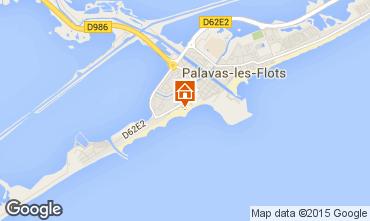 Mappa Palavas-les-Flots Appartamento 26554
