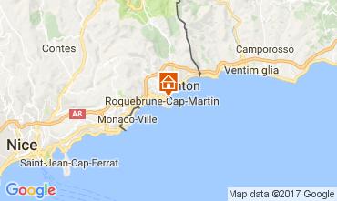 Mappa Roquebrune Cap Martin Appartamento 81034