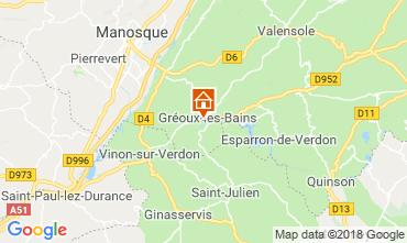 Mappa Gréoux Les Bains Villa  117404