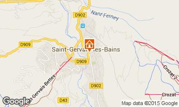Mappa Saint-Gervais-les-Bains Appartamento 74408