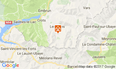 Mappa Les Orres Appartamento 28630