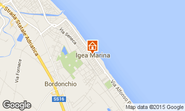 Mappa Bellaria Igea Marina Appartamento 80890
