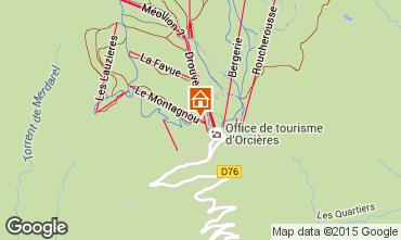 Mappa Orcières Merlette Appartamento 29009