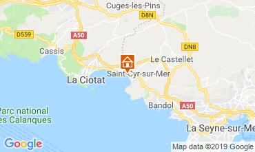 Mappa Saint Cyr sur Mer Appartamento 119367