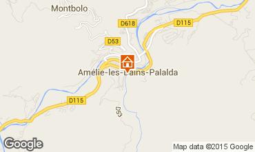 Mappa Amélie-Les-Bains Monolocale 80375