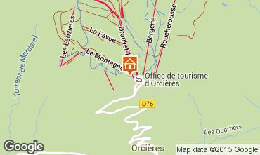Mappa Orcières Merlette Appartamento 98808
