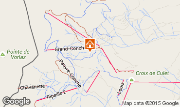 Mappa Les Crosets Appartamento 4697