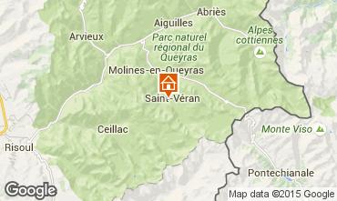 Mappa Molines Saint-V�ran Chalet 1575