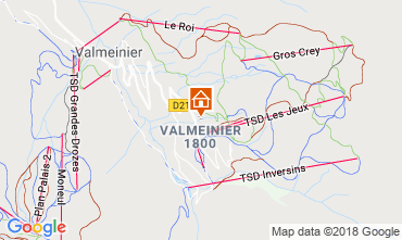 Mappa Valmeinier Appartamento 117420