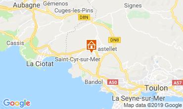 Mappa La Cadi�re d'Azur Casa 96924